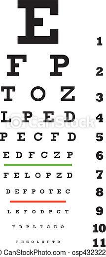 eye examination chart - csp4323223