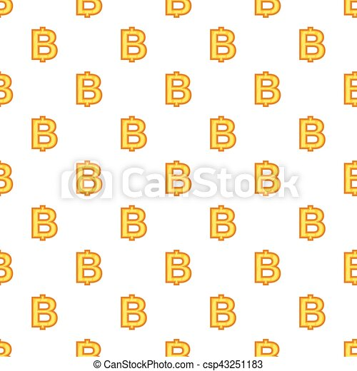 Baht currency symbol pattern, cartoon style - csp43251183