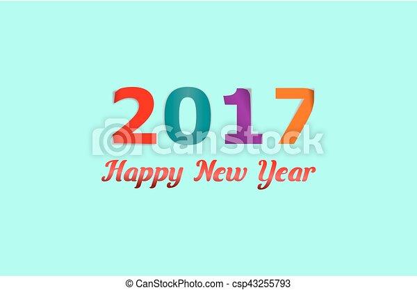 Happy New Year 2017 - csp43255793