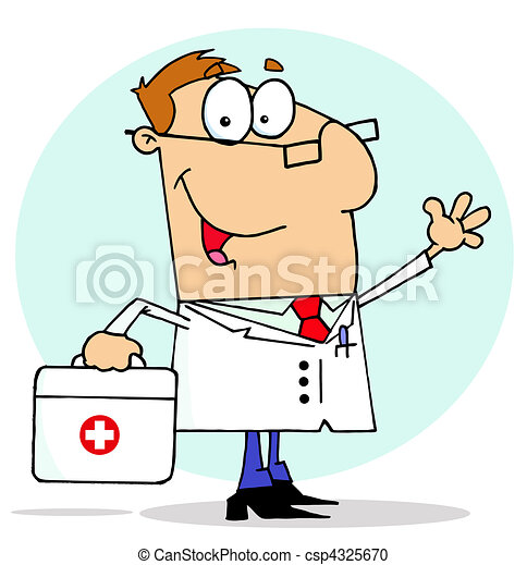 Doctor Carrying His First Aid Bag  - csp4325670