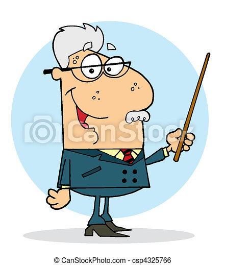 Senior Caucasian Professor Man - csp4325766