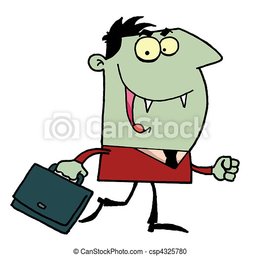 Vampire with briefcase  - csp4325780