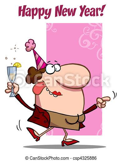 Happy holiday dance lady  - csp4325886