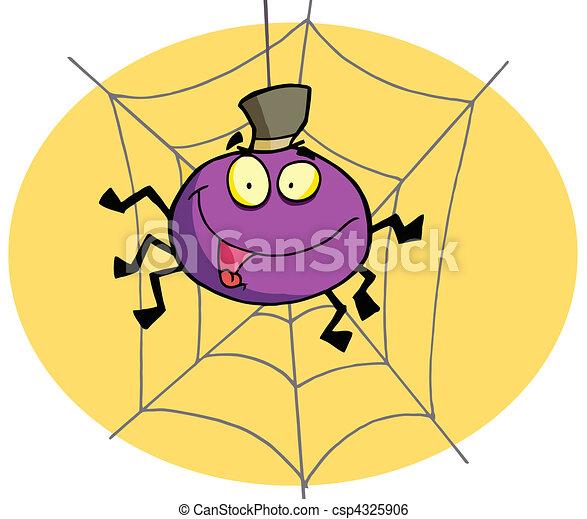 Cartone animato ragno csp4325906