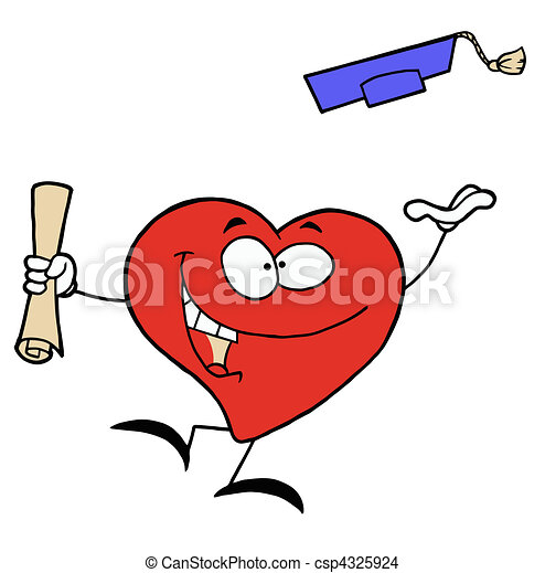 Red Heart With A Diploma - csp4325924