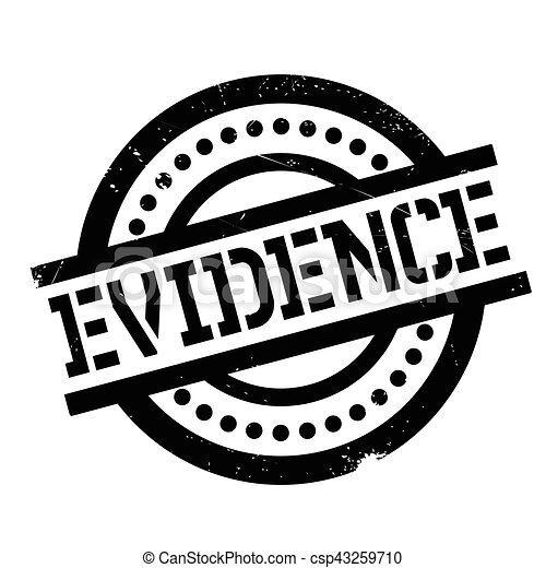 Vector Clip Art of Evidence rubber stamp. Grunge design with dust ...