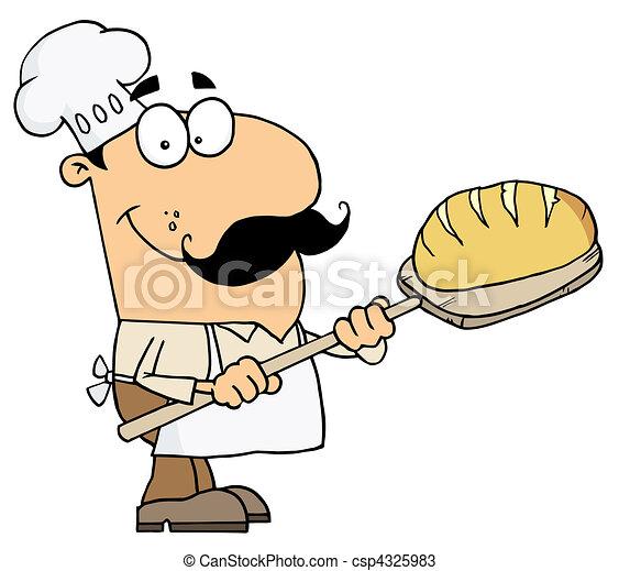 Bread Baker Man - csp4325983