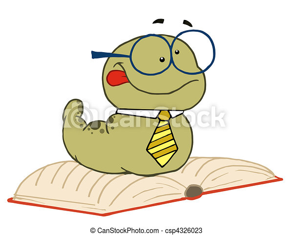 Old Worm Wearing A Tie And Glasses - csp4326023