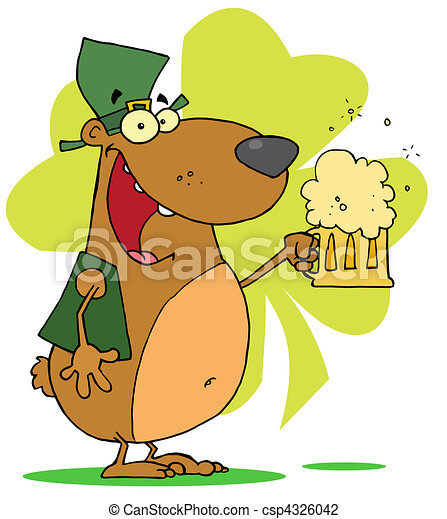 Happy St Patrick's Day Bear - csp4326042
