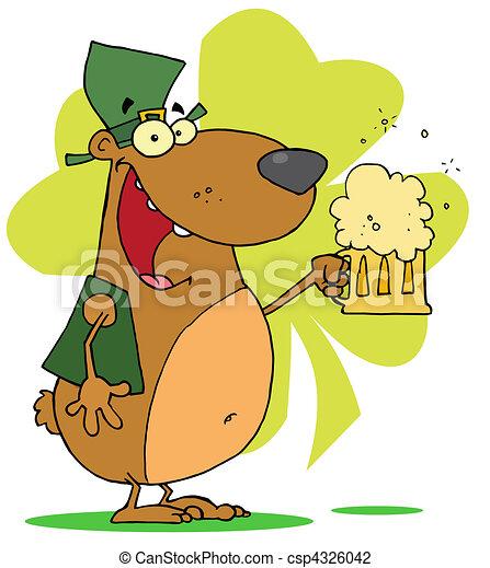 Happy St Patrick\'s Day Bear  - csp4326042