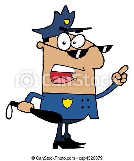 Hispanic Police Officer  - csp4326079