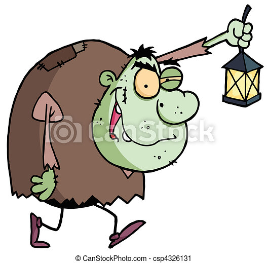 Green Igor Carrying A Lantern - csp4326131