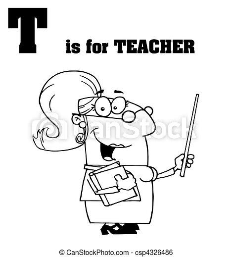 Teacher With T Is For Teacher Text