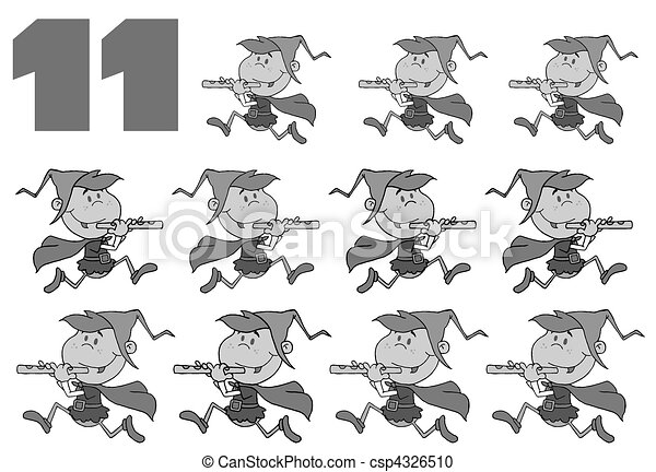 Eleven pipers piping Stock Illustration Images. 11 Eleven pipers ...