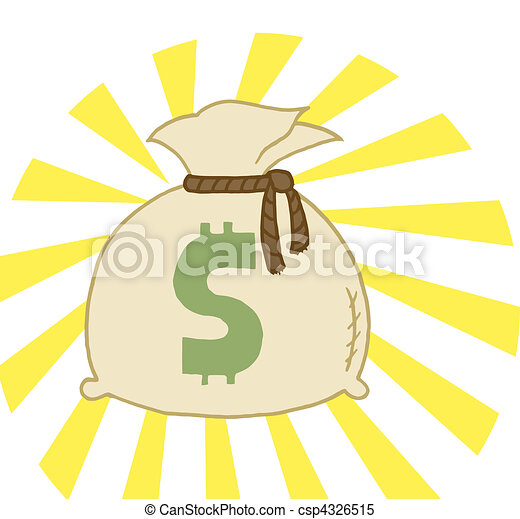 Bag of Cash  - csp4326515