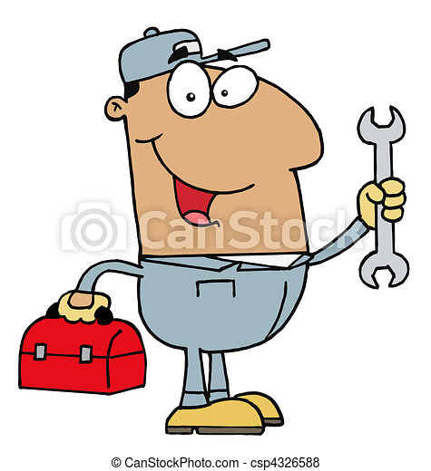 Hispanic Mechanic Guy  - csp4326588
