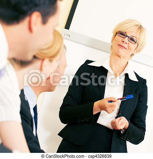 Business presentation in meeting - csp4326839