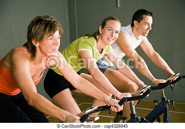 Spinning in the gym - csp4326945