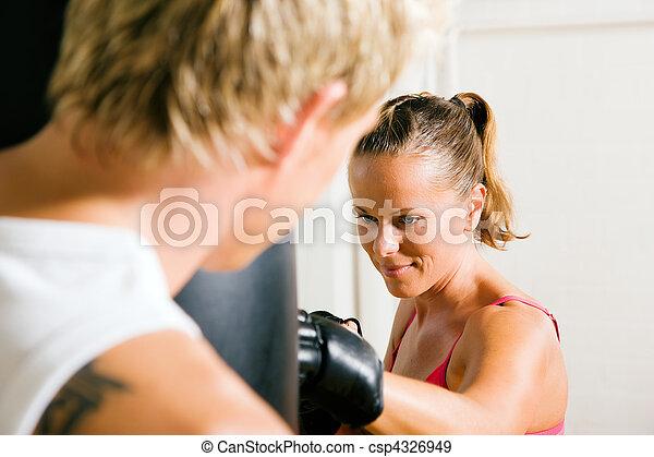 Martial Arts Couple - csp4326949