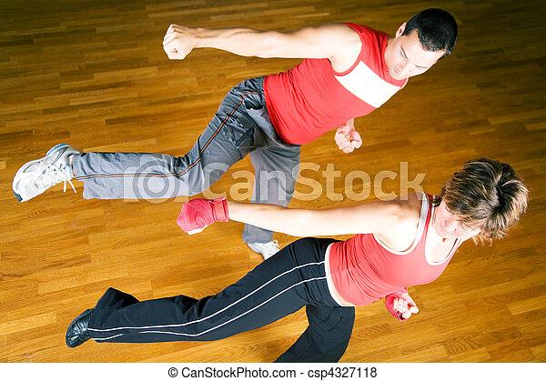 Martial Arts Sparring - csp4327118
