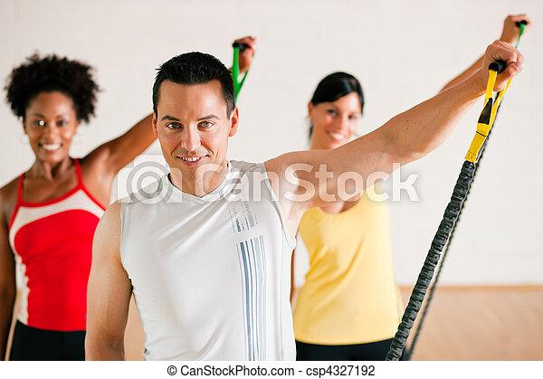 Gymnastics  training in gym - csp4327192