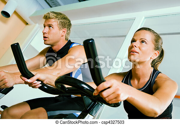 Spinning in the gym - csp4327503