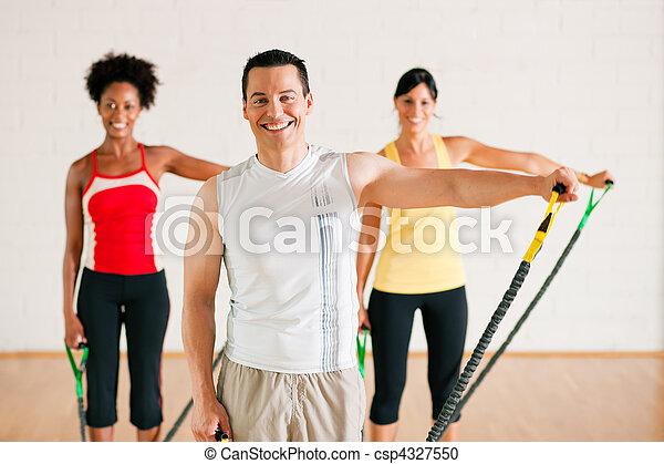 Gymnastics  training in gym - csp4327550