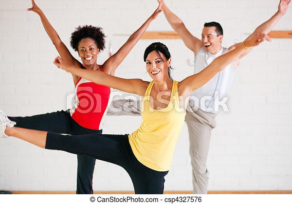 Aerobics training in gym - csp4327576