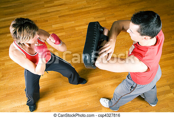 Martial Arts Sparring - csp4327816