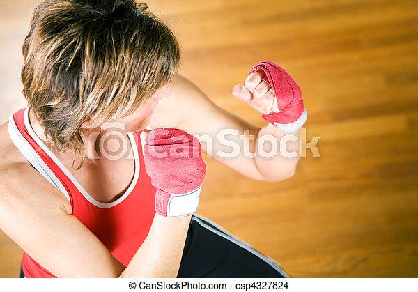 Martial Arts Sparring - csp4327824