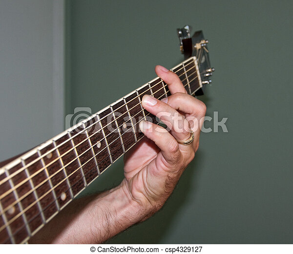 G7 Chord on acoustic guitar - csp4329127
