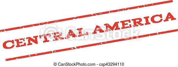 Central America Watermark Stamp - csp43294110