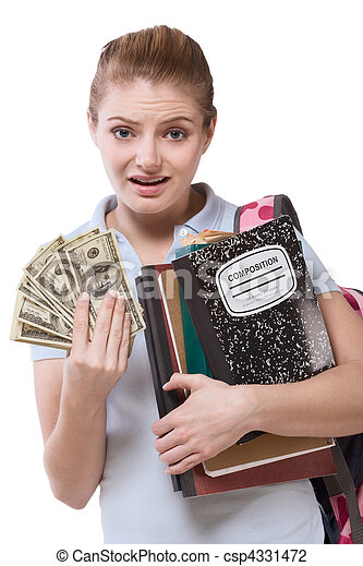 education cost serious problem for girl student - csp4331472