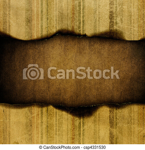 Grungy striped paper background, with space for text. - csp4331530