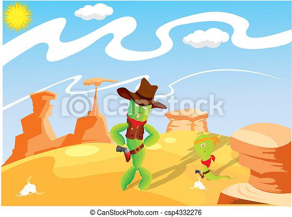 Wild West Cowboy - csp4332276
