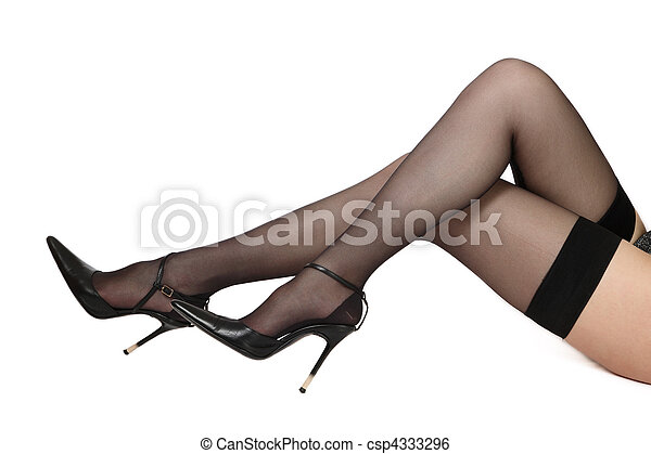 Legs in stockings - csp4333296