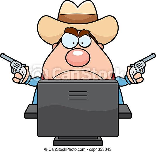 Computer Cowboy - csp4333843