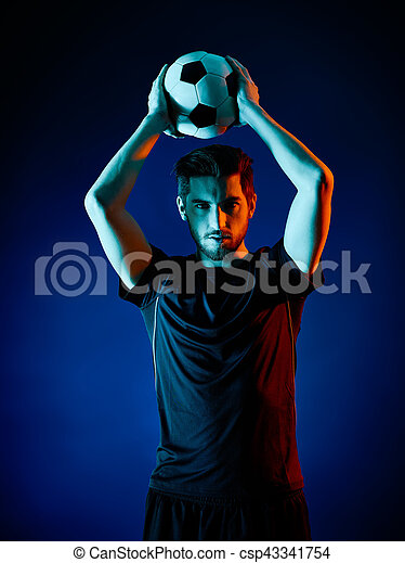 Soccer player Man isolated - csp43341754