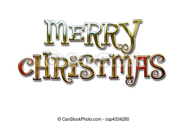 Merry Christmas Lettering - csp4334280