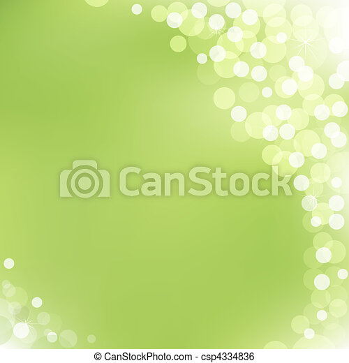 Green Vector Background With Bokeh - csp4334836