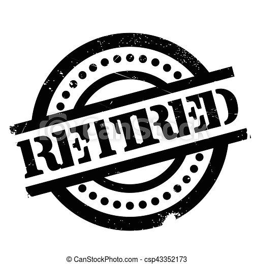 Vectors Illustration of Retired rubber stamp. Grunge design with ...