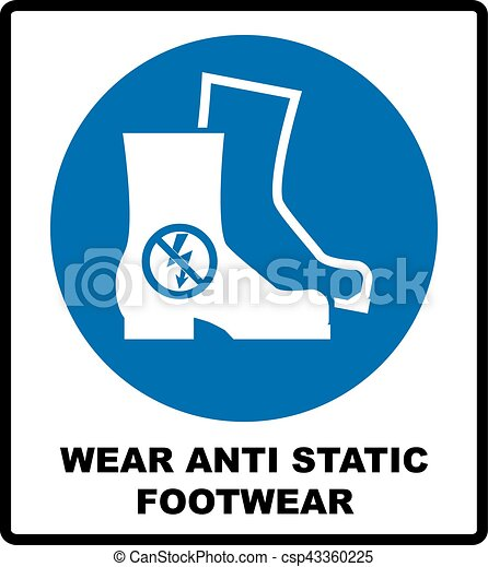 Clipart Vector of Vector safety shoes sign - Vector illustration ...