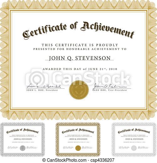 Vector Guilloche Certificate Set - csp4336207