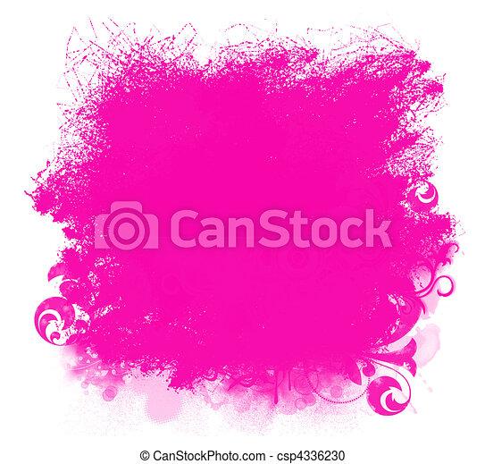 Stock illustratie van roze grunge verf vlek achtergrond grunge roze verf csp4336230 - Hoe roze verf ...