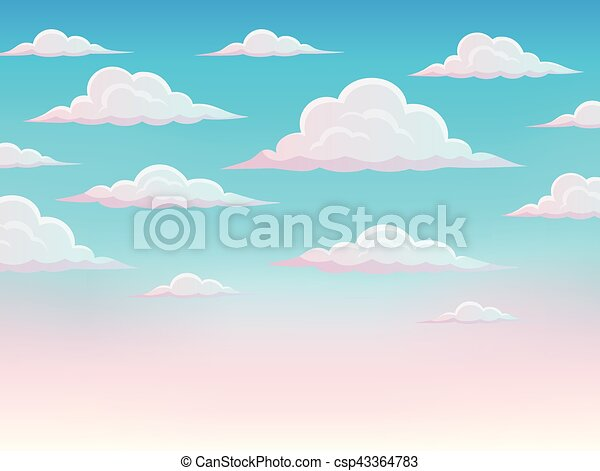 Pink sky theme background 1 - csp43364783