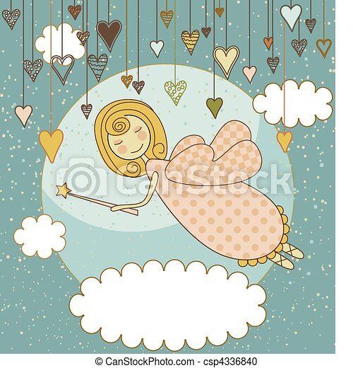 Sweet Fairy Card - csp4336840