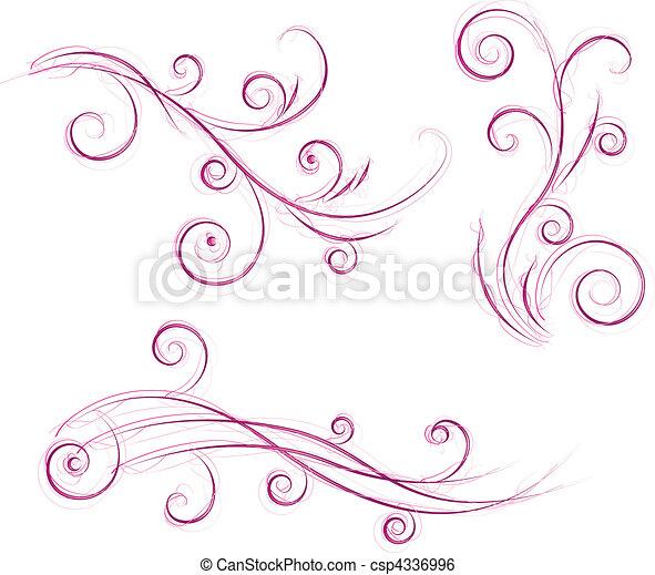 Swirls floral designs - csp4336996