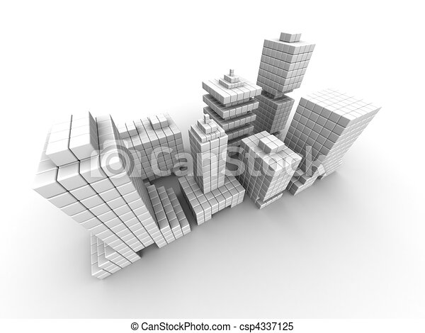 Real estate business commercial building - csp4337125