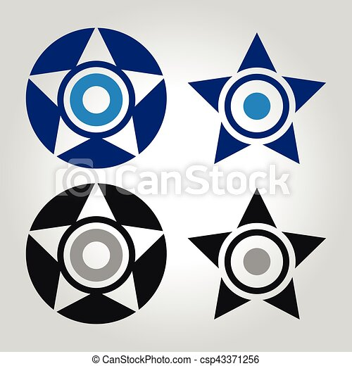 olho, estrela, mal, logotipo - csp43371256