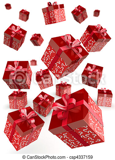 Mystery gift and surprises concept - csp4337159